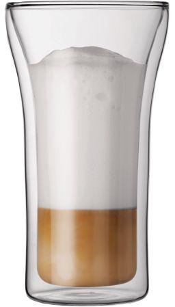 Bodum ASSAM 2 Szklanki Termiczne o Podwójnych Ściankach do Kawy Latte 0,4 l