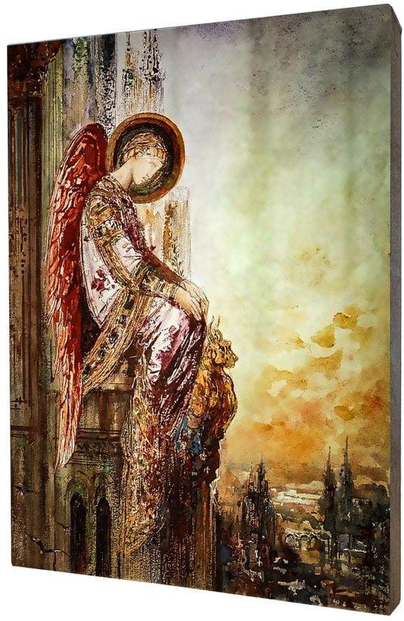 Obraz na desce lipowej, Anioł