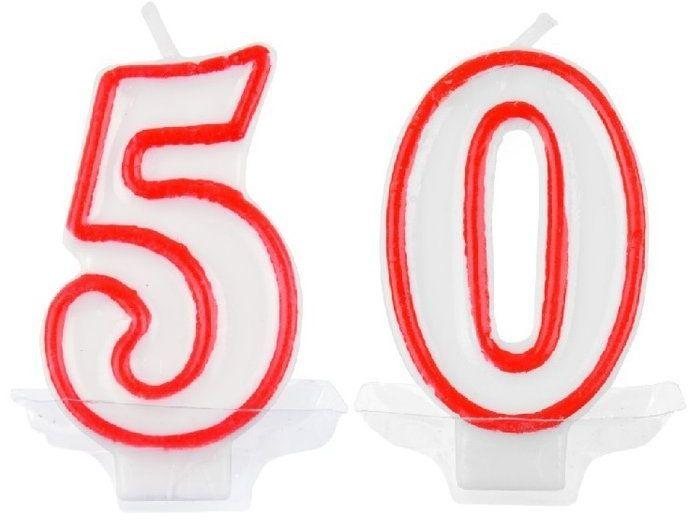 Świeczki urodzinowe 50 DS9906CZE-50