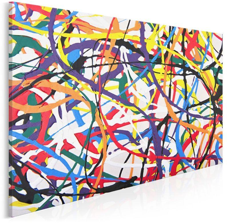 Ścieżki życia - nowoczesny obraz do salonu - 120x80 cm
