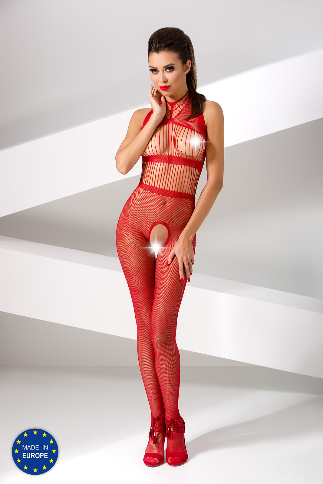 Passion Bodystocking BS048 Red