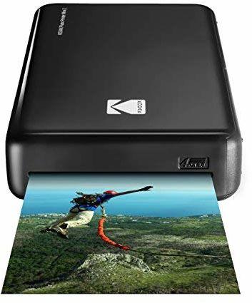 Kodak Mini 2 HD Wireless Mobile Instant drukarka fotograficzna z opatentowaną technologią druku (czarna)  kompatybilna z urządzeniami iOS i Android  prawdziwy atrament w jednym