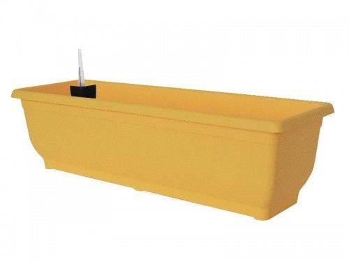 Doniczka 9L samonawadniająca Żółta 60x17x19cm Gloria