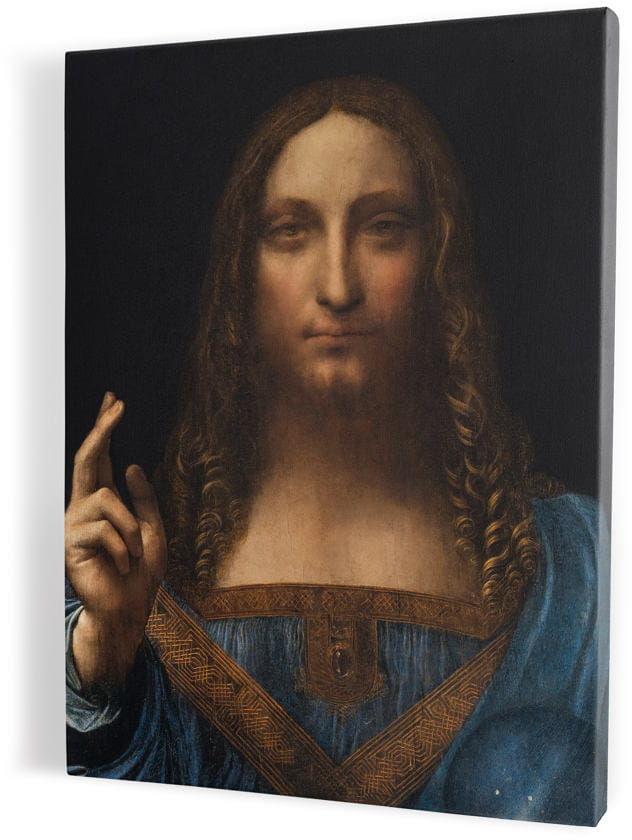 Salvator Mundi-Zbawiciel Świata, obraz religijny na płótnie canvas