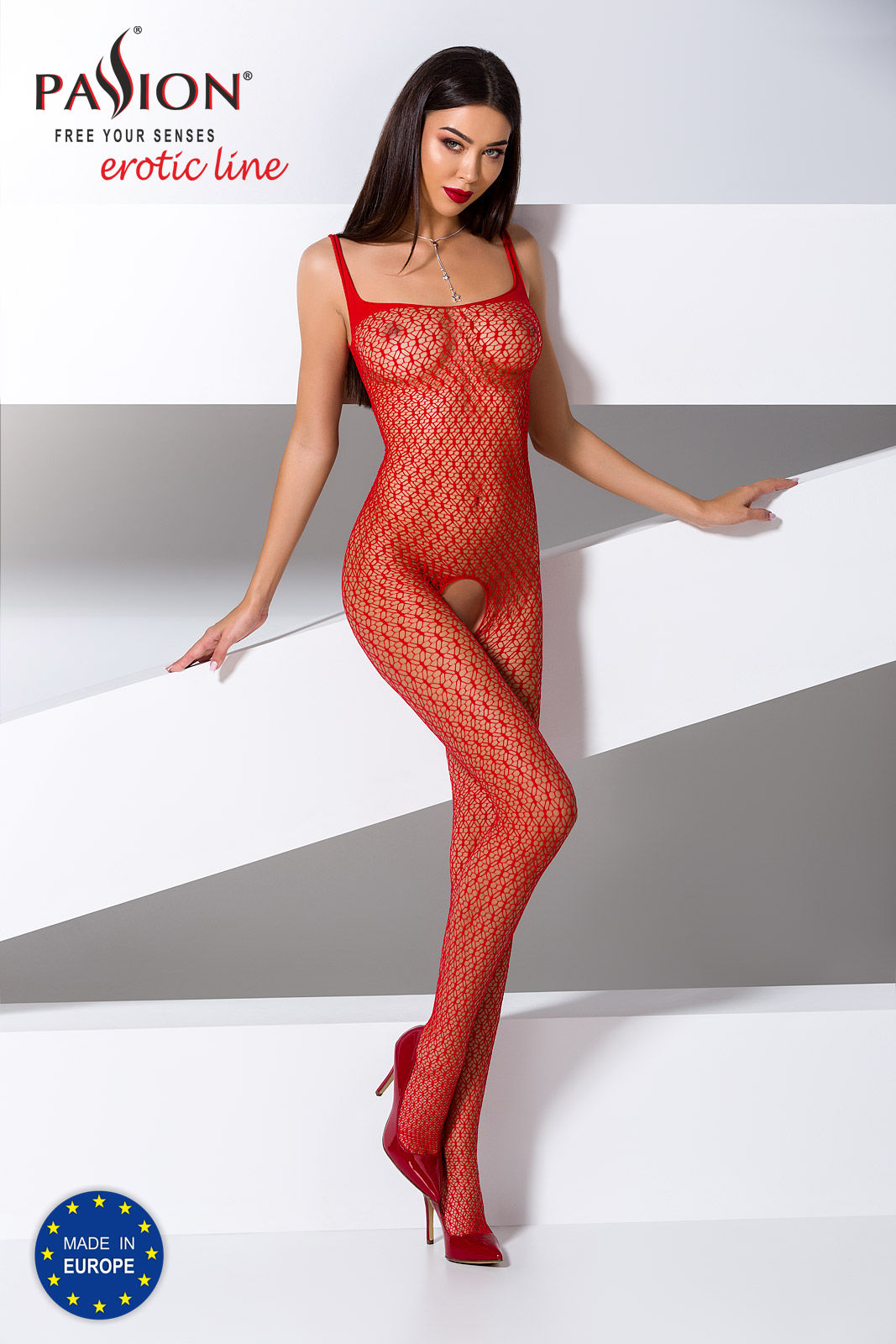 Passion Bodystocking BS071 Red