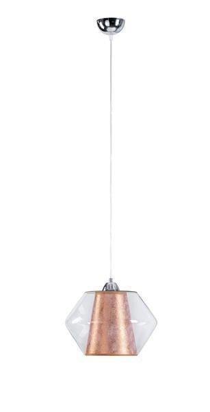 Nowoczesna lampa wisząca RODES 151 miedź śr. 27cm - miedziany