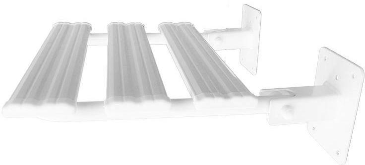 Siedzisko prysznicowe uchylne fi 25 Faneco stal biała