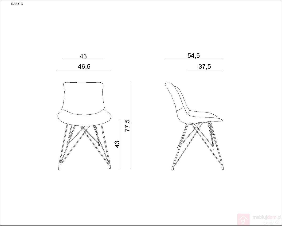 Krzesło EASY B Unique Szary  RABAT na stronie!