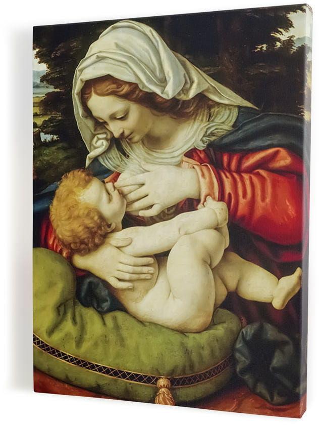 Matka Boża karmiąca, obraz religijny na płótnie canvas