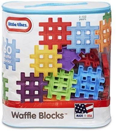 Little Tikes Waffle Blocks - Zestaw 60 elementów w torbie 645334