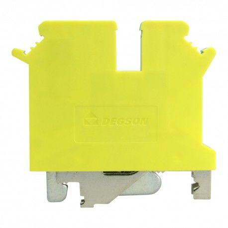 Złączka szynowa żółto-zielona PE śrubowa 4mm2 3-przewodowa 1P 3480