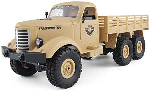 Amewi 22367 U.S. Ciężarówka wojskowa 6WD 1:16 RTR, Desert-żółty