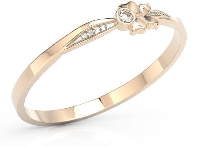 Pierścionek motylek z różowego złota z cyrkonią bp-89p-r-c