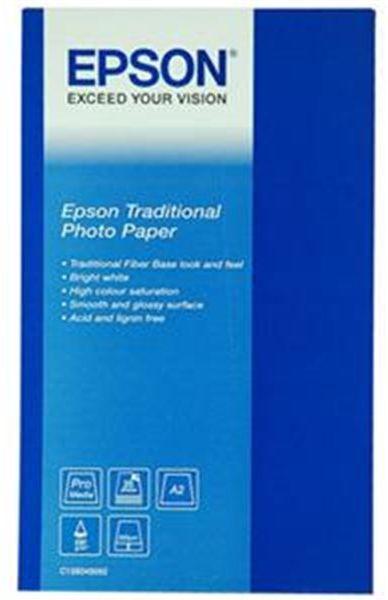 Epson S045052 Traditional Photo Paper, papier fotograficzny, satyna, biały, A2, 330 g/m2, 25 szt.