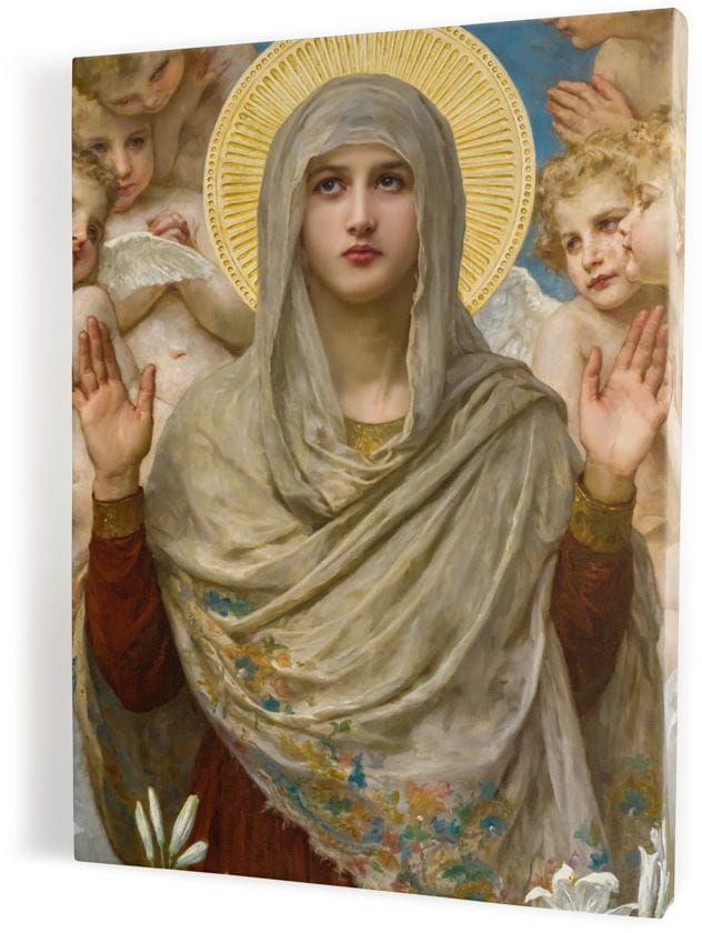Matka Boża, obraz religijny na płótnie