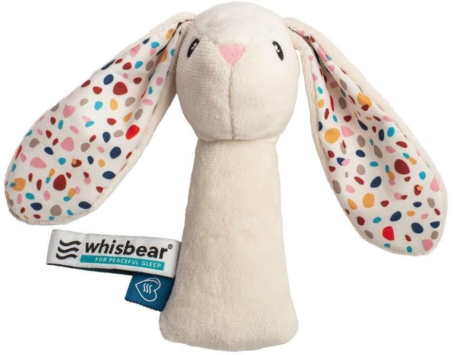 Whisbear - Grzechotka Króliczek - biały