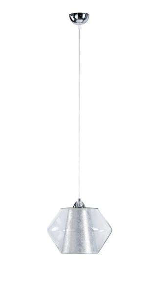 Nowoczesna lampa wisząca RODES 152 srebrny śr. 27cm