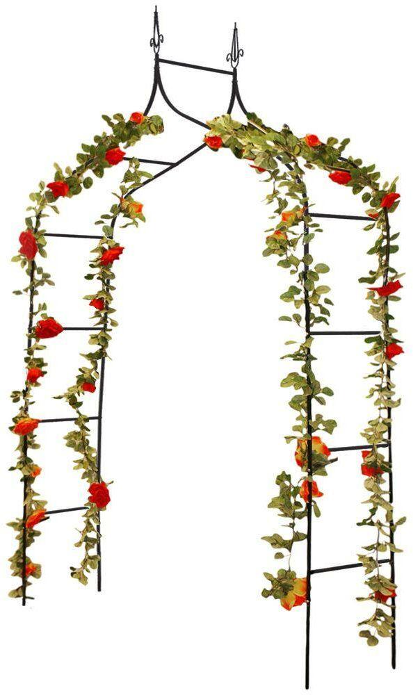 Pergola OGRODOWA łukowa drabinka metalowa na kwiaty róże pnącza 150x240 cm