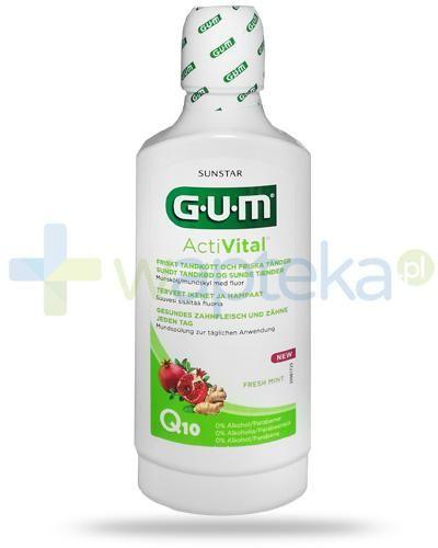 GUM ActiVital Q10 Fresh Mint płyn do płukania jamy ustnej 500 ml