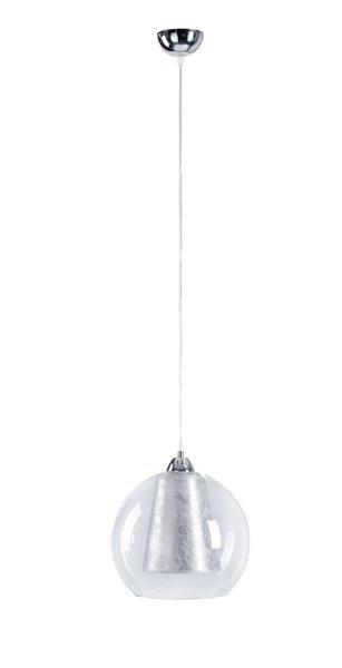 Nowoczesna lampa wisząca KULA 160 srebrny śr. 30cm