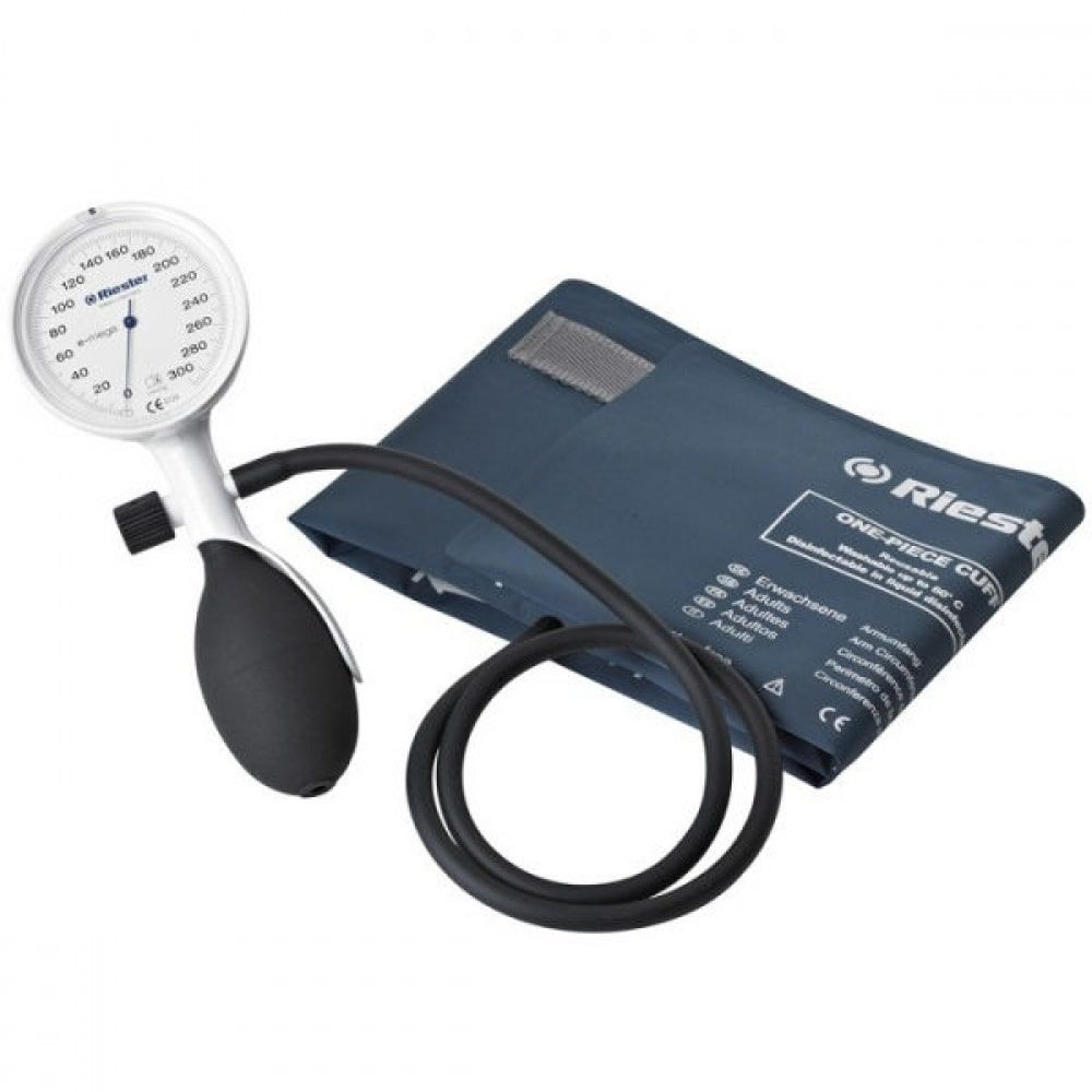 RIESTER E-mega biały-17 - 26 cm mały dla dorosłych Ciśnieniomierz zegarowy lekarski