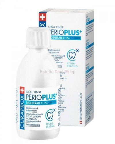 Curaprox Perio Plus + Regenerate - Plyn do płukania ust z CHX 0,09% i CITROX  / P Complex (200 ml)