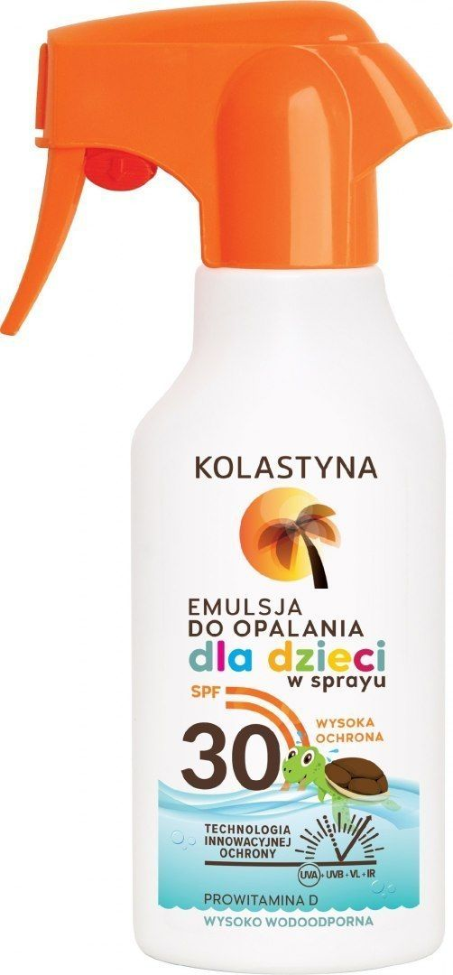 KOLASTYNA OPALANIE Kolastyna Opalanie Emulsja do opalania dla dzieci SPF30 spray 200ml
