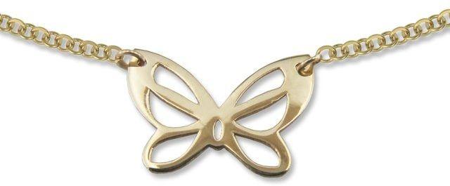 Naszyjnik ze złota - celebrytka z motywem Motylka- Model 22