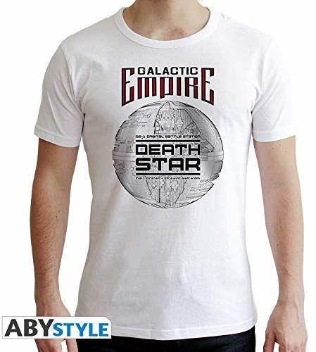 """ABYstyle - Gwiezdne wojny - koszulka -""""Gwiazda Śmiercia"""" - mężczyźni - biały (S)"""