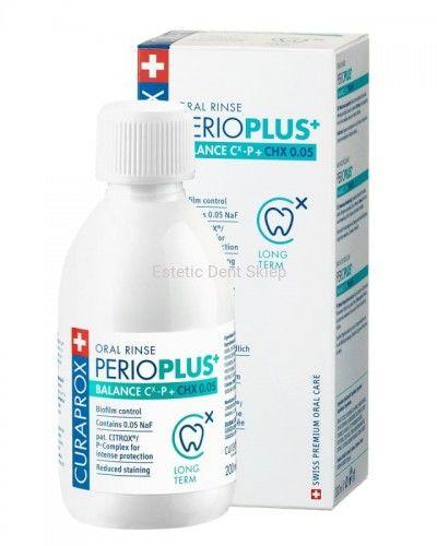 Curaprox Perio Plus + Balance - Płukanka do ust z CHX 0,05% i CITROX  / P Complex (200 ml)