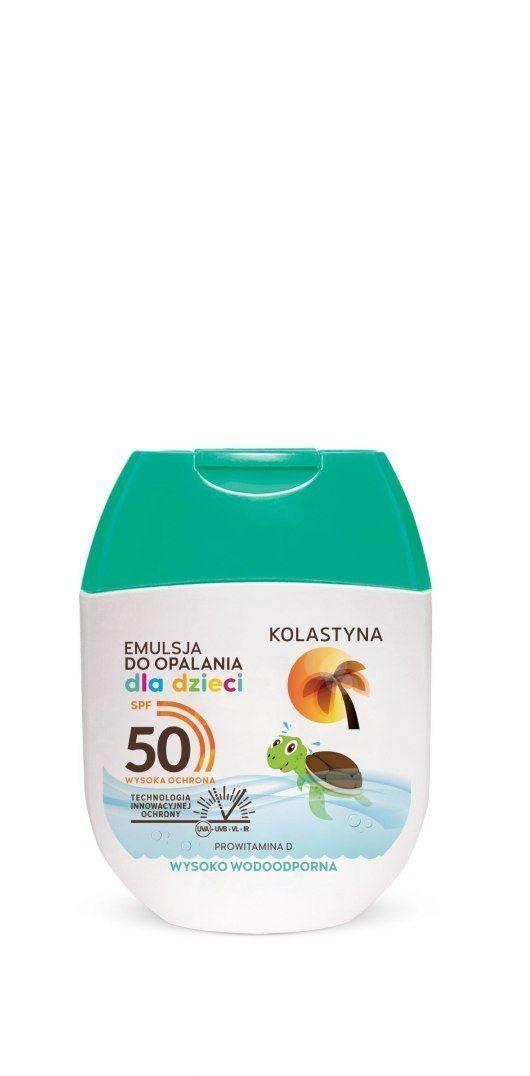 KOLASTYNA OPALANIE Kolastyna Opalanie Emulsja do opalania dla dzieci SPF50 60ml - mini