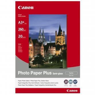 Canon SG-201 Photo Paper Plus Semi-Glossy, papier fotograficzny, półbłyszczący, satyna, biały, A3+, 260 g/m2, 20 szt.