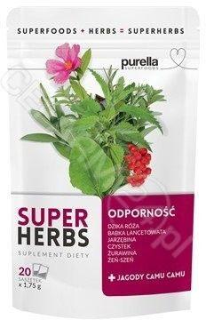 Purella SuperHerbs mieszanka ziół na odporność 20 saszetek