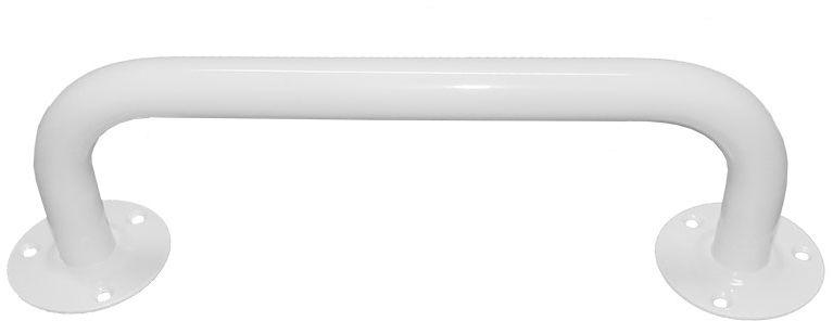Poręcz dla niepełnosprawnych do łazienki prosta fi 25 30 cm Faneco stal biała