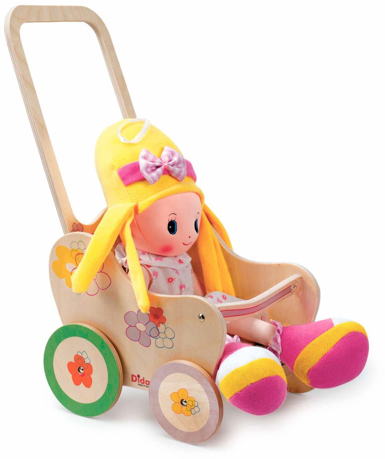 Dida GP20F pedagogiczny wózek dla lalek, wózek dziecięcy Fiore, mały