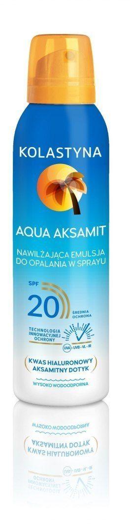 KOLASTYNA OPALANIE Kolastyna Opalanie Emulsja do opalania nawilżająca Aqua Aksamit SPF20 spray 150ml