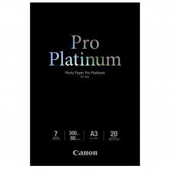 Canon PT-101 Photo Paper Pro Platinum, papier fotograficzny, błyszczący, biały, A3, 300 g/m2, 20 szt.