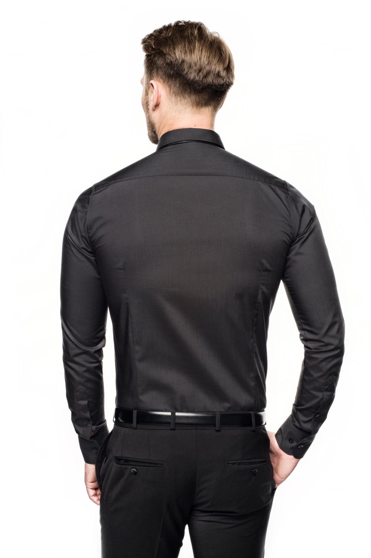 koszula versone cod4 długi rękaw custom fit czarny