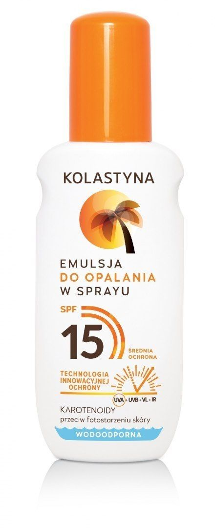 Kolastyna Kolastyna Opalanie Emulsja do opalania SPF15 - spray 150ml