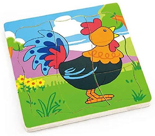 Drewniane puzzle Rooster