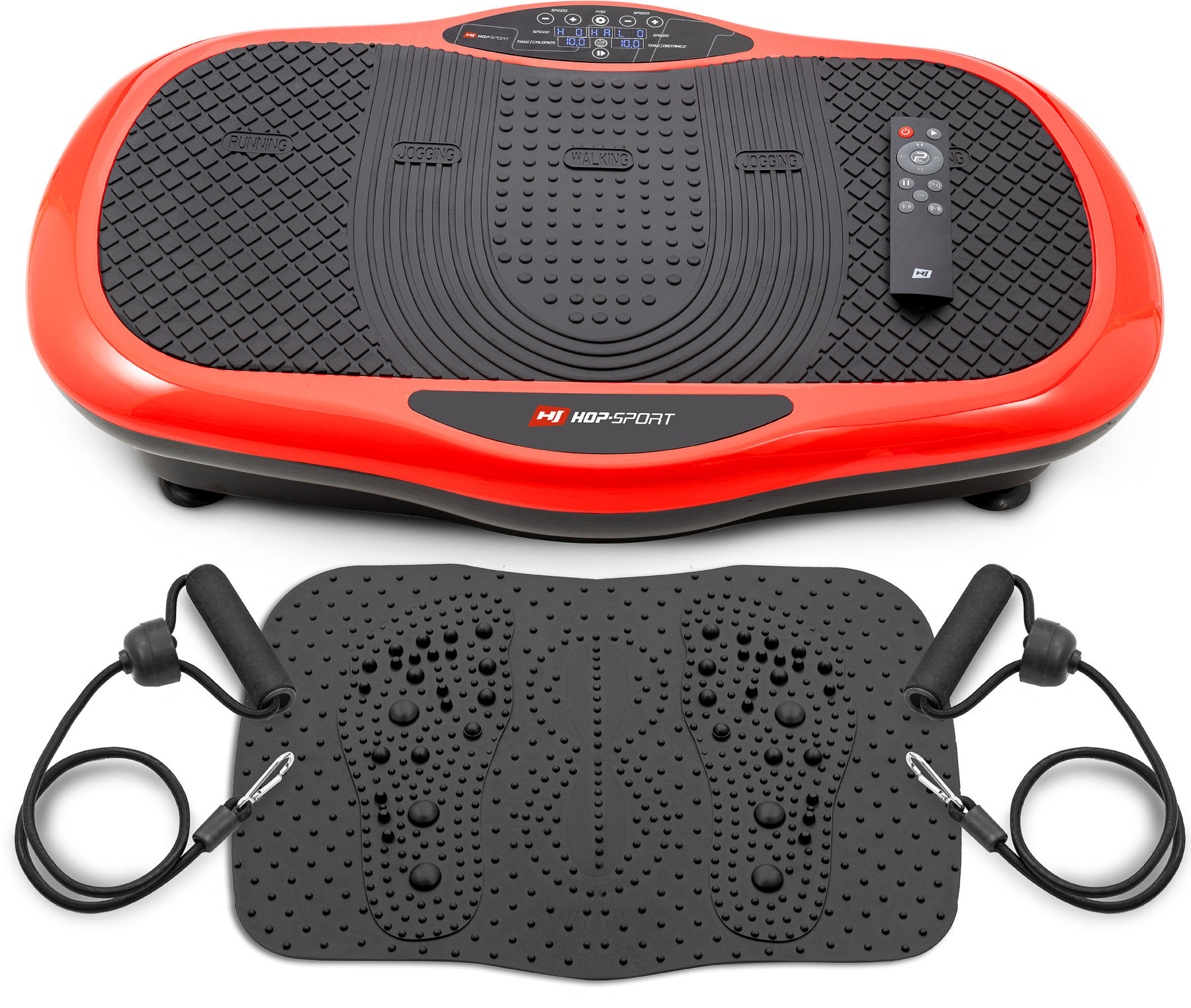 Platforma wibracyjna 3D HS-070VS Scout-Czerwona+mata