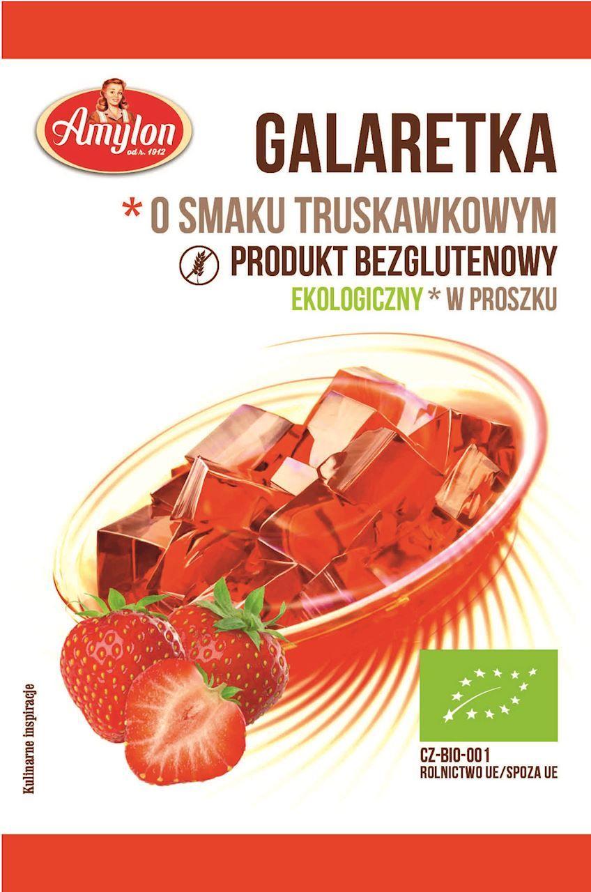Galaretka o smaku truskawkowym bezglutenowa bio 40 g - amylon