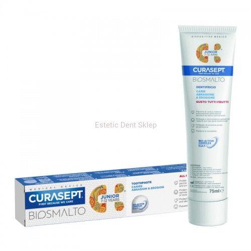 CURASEPT BIOSMALTO Junior - pasta do zębów o smaku owocowym dla dzieci od 7 do 12 lat 75ml