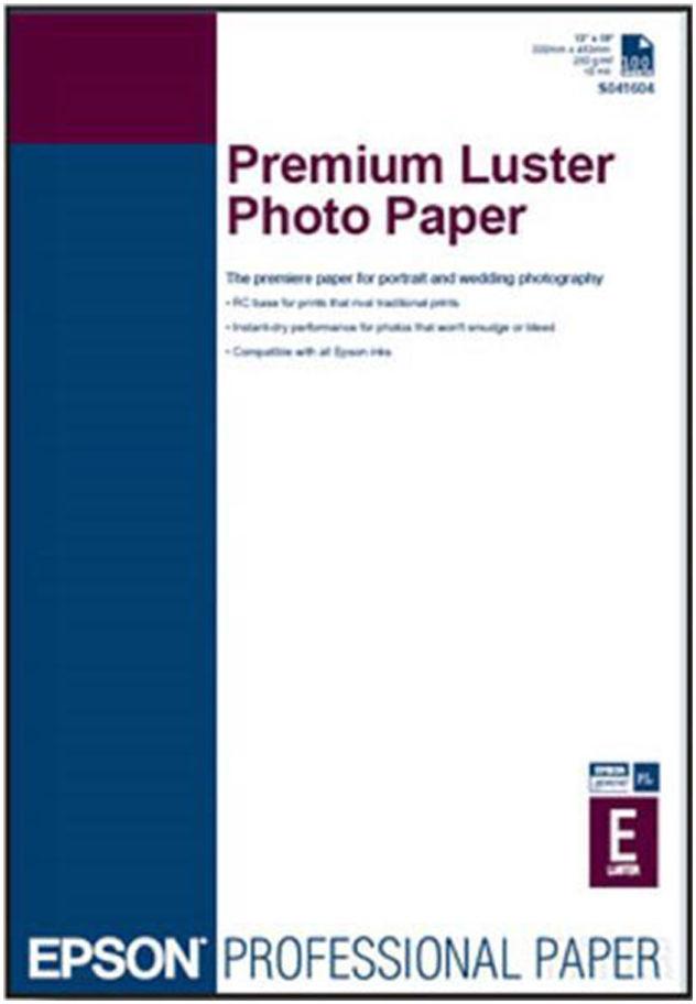 Epson S041785 Premium Luster Photo Paper, papier fotograficzny, błyszczący, biały, A3+, 235 g/m2, 100 szt.