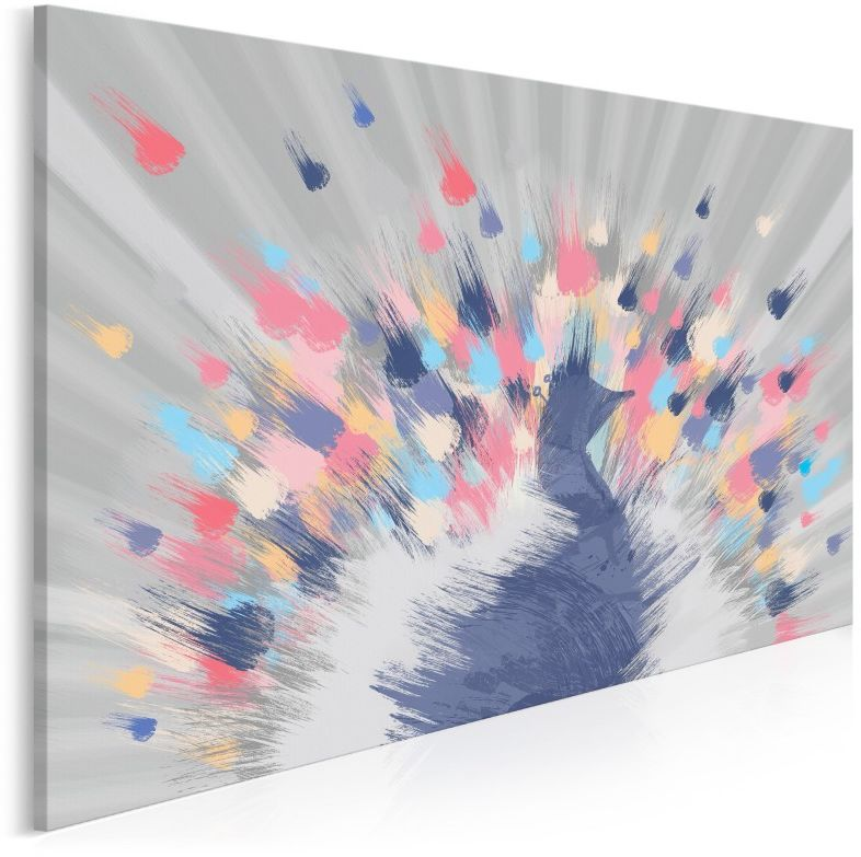 Rozpromieniony - nowoczesny obraz do sypialni - 120x80 cm