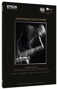 Epson S045051 Traditional Photo Paper, papier fotograficzny, satyna, biały, A3+, 330 g/m2, 25 szt.