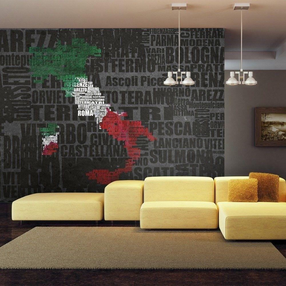 Fototapeta - text map of italy