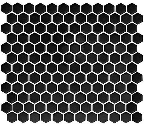 Mini Hexagon Black 26x30