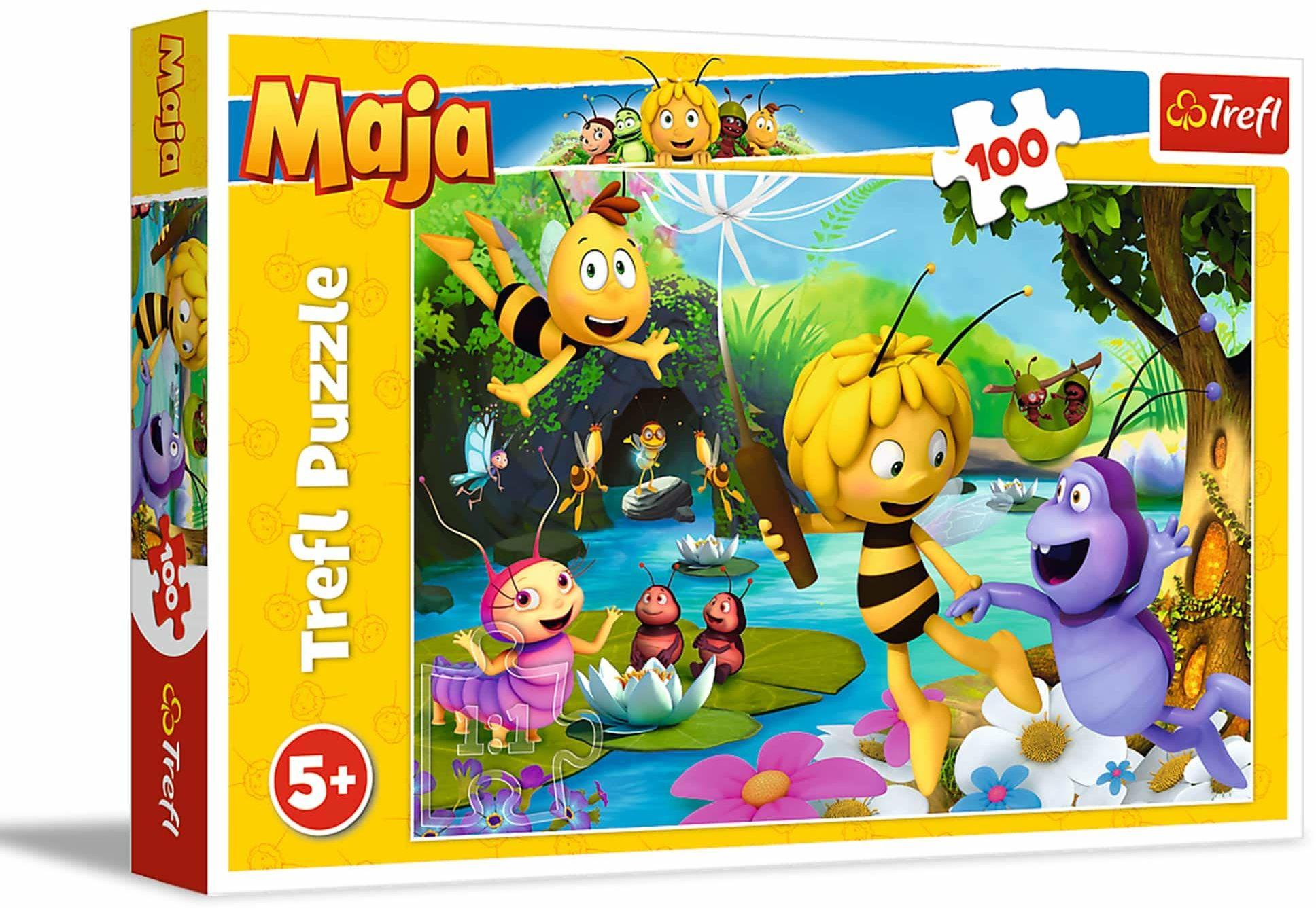 Trefl Pszczółka Maja i Przyjaciele Puzzle 100 Elementów o Wysokiej Jakości Nadruku dla Dzieci od 5 lat