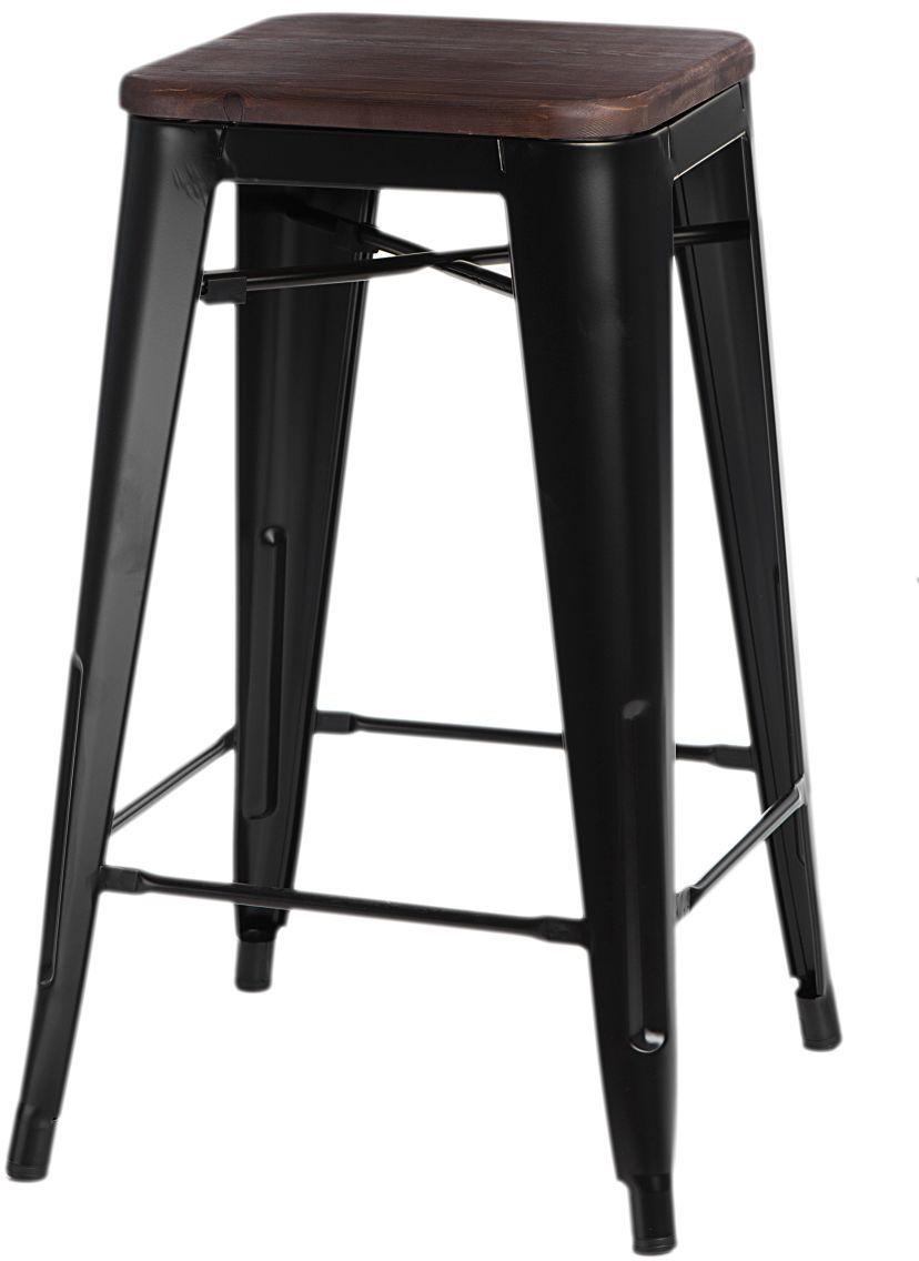 Hoker PARIS WOOD 65cm czarny-orzechowy